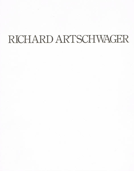 Front cover image-Richard Artschwager-catalogue