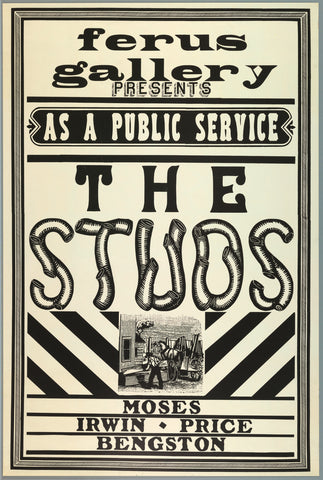 Front cover image-Ferus Gallery Poster-The Studs