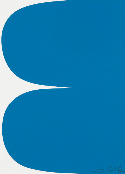 KELLY, ELLSWORTH. BLUE CURVES, 2013.