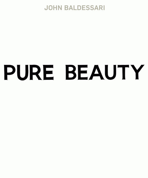 Cover of Pure Beauty by John Baldessari