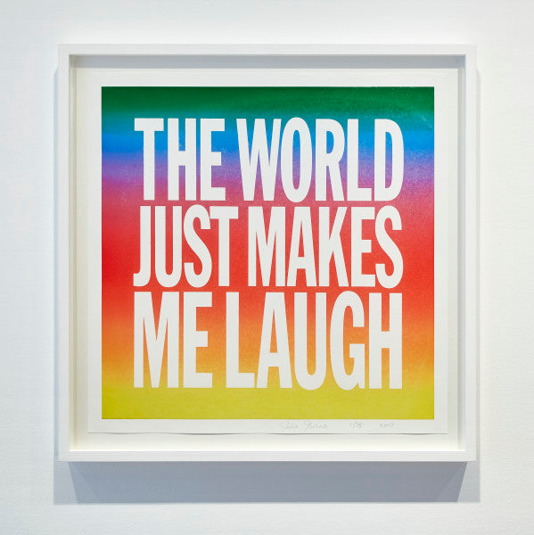 JOHN GIORNO. THE WORLD JUST MAKES ME LAUGH