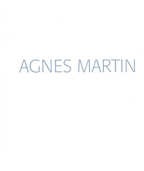 Cover image of Agnes Martin UC Berkeley