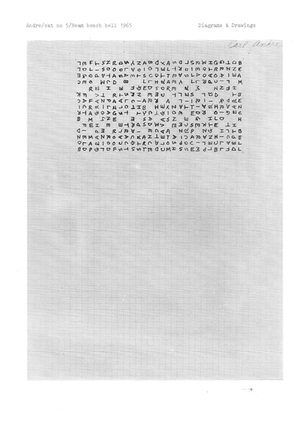 insert from Carl Andre portfolio