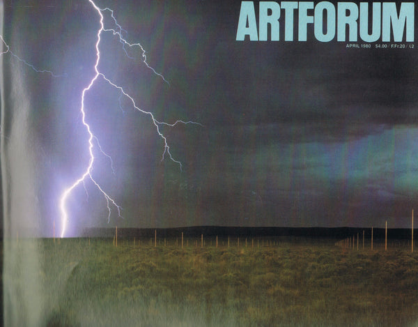 Cover image of ARTFORUM Walter de Maria