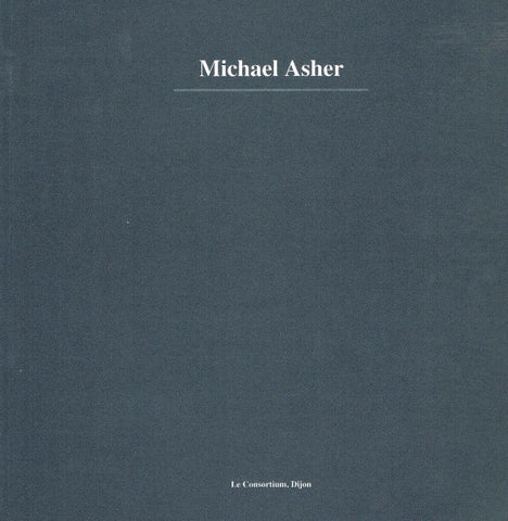 Cover of Le Consortium, Dijon by Michael Asher