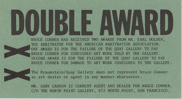 Bruce Conner-Double Award