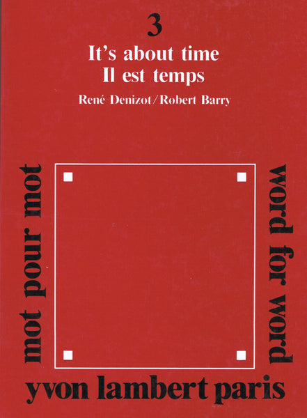 Cover photo of It's About Time by Robert Barry