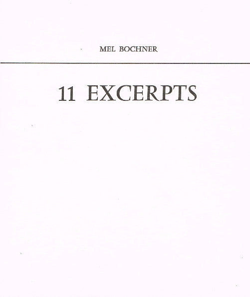 Cover of 11 Excerpts
