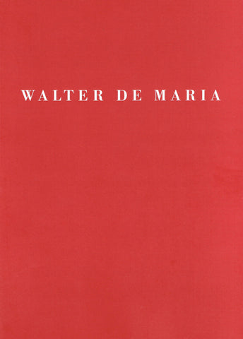 Cover image of Walter de Maria 2000 Sculpture