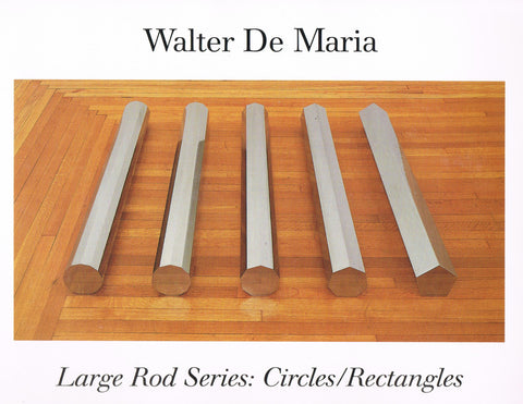 Front cover of Walter De Maria's catalogue Large Rod Series: Circles/Rectangles