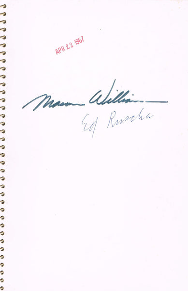 inscription on cover page
