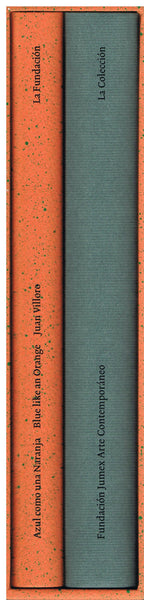 Spines of the two volumes of La Coleccion de Fundacion Jumex Arte Contemporaneo