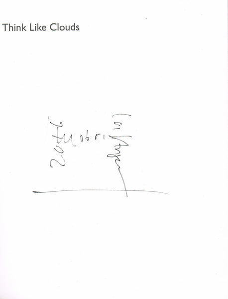 Hans Ulrich Obrist-Think Like Clouds-Signature-Front Endpaper