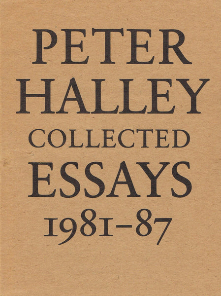 Cover image of-Peter Halley-Collected Essays 1981-1987