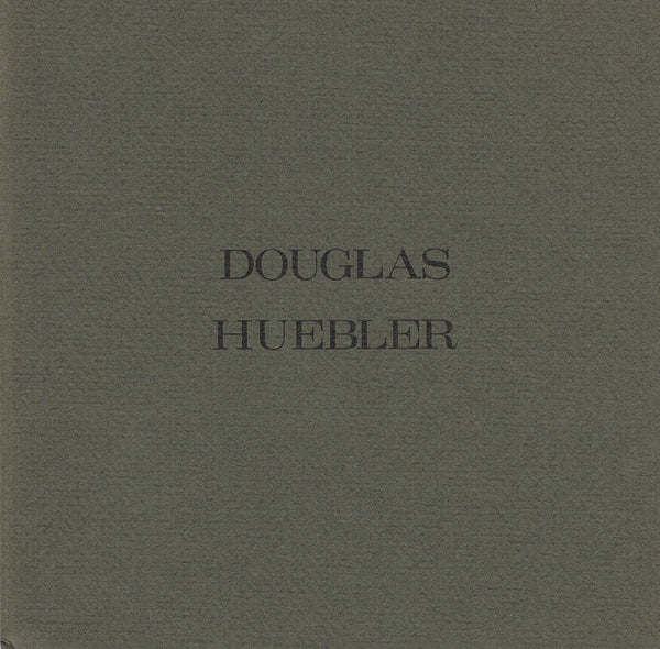 Cover image of Douglas Huebler at Holly Solomon