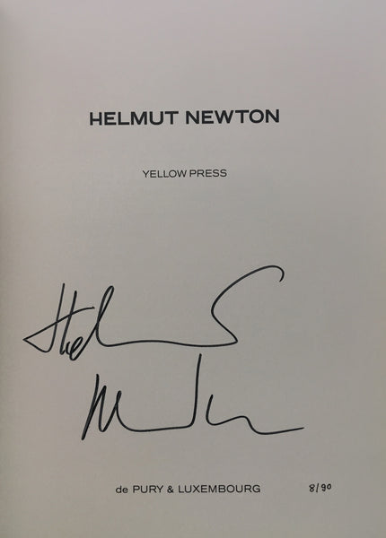 NEWTON HELMUT. YELLOW PRESS [SIGNED]
