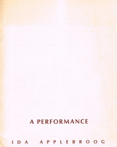 Cover page of A Performance by Ida Applegroog
