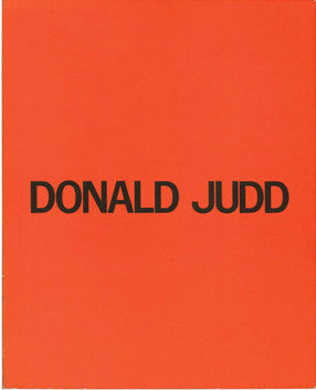 Cover of Donald Judd's Catalogue Raisonne of Paintings, Objects, and Wood-Blocks
