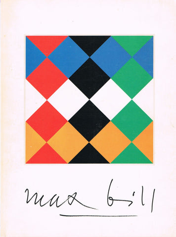Cover image of Max Bill Retrospective Catalogue