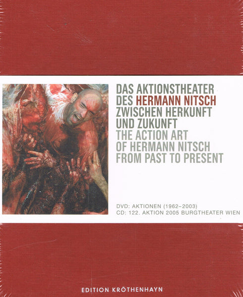 Cover image of The Action Art of Hermann Nitsch from past to present.
