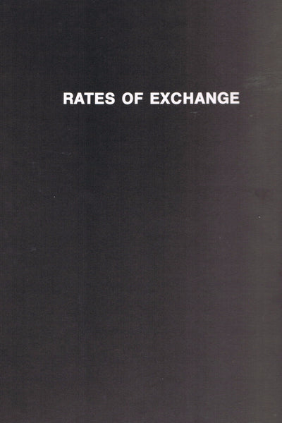 KAPROW, ALLAN. RATES OF EXCHANGE
