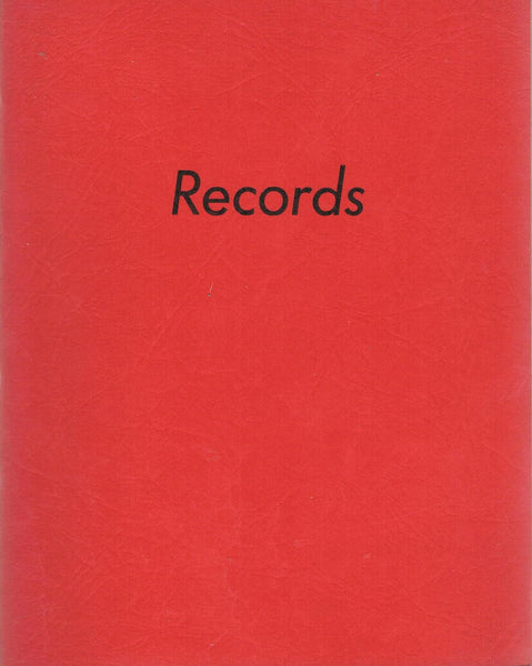 Front cover image-Ed Ruscha-Records