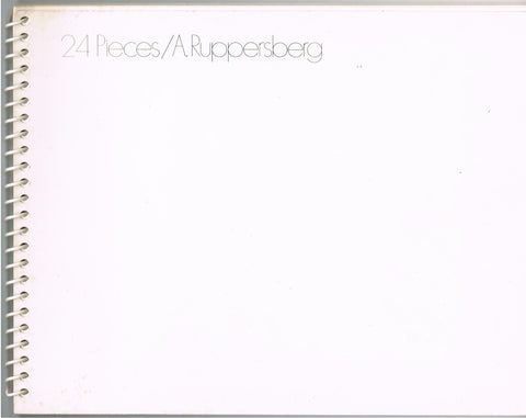 Alan Ruppersberg-24 Pieces-Cover