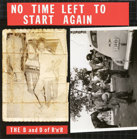 "Front of both Volumes of Allen Ruppersberg's vinyl series ""No Time Left to Start Again"""