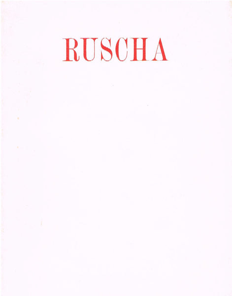 cover image of Edward Ruscha