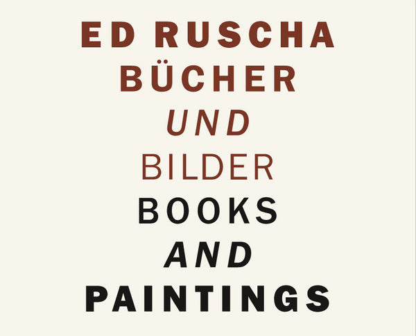 Cover photo of Ed Ruscha Books and Paintings