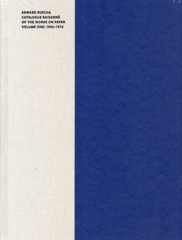 FRONT COVER-EDWARD RUSCHA:CATALOGUE RAISONNE WORKS ON PAPER VOL 2: 1956-1976
