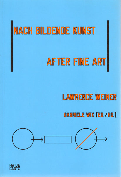Cover of AFTER FINE ART by LAWRENCE WEINER