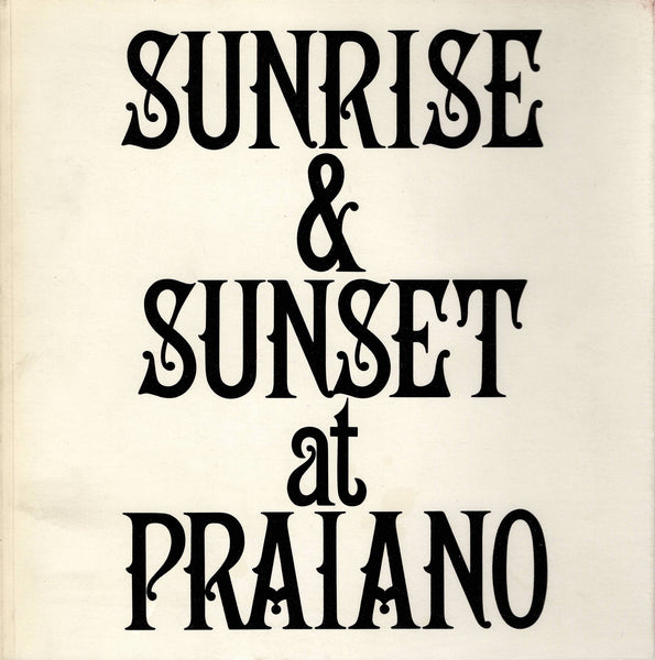Front Cover-Sol LeWitt-Sunrise & Sunset at Praiano