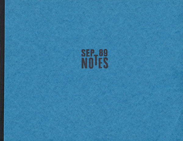 Cover photo of Thomas Schutte Notes
