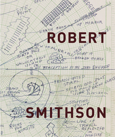 Cover image of Robert Smithson exhibition catalogue from MOCA, LA