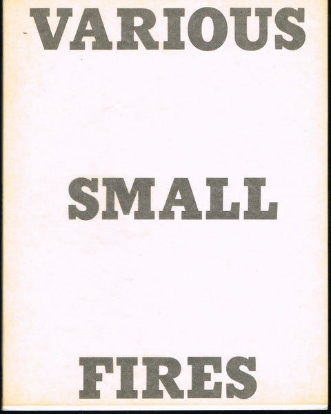 Front cover-Ed Ruscha-Various Small Fires