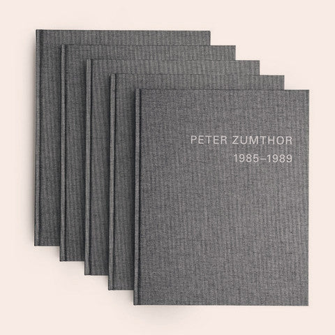 Collected volumes of BUILDINGS AND PROJECTS, 1985-2013 by PETER ZUMTHOR