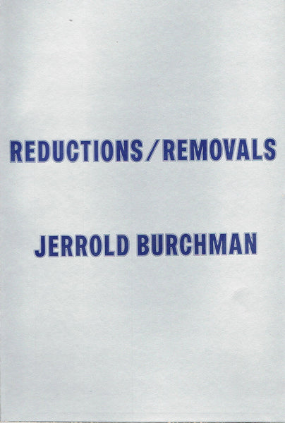 Jerrold Burchman-Reductions/Removals-Conceptual Photography