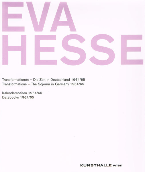 Slipcase cover of Eva Hesse 2 vol. Transformations & Datebooks