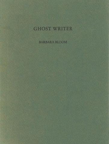 Front cover-Barbara Bloom Ghost Writer, signed artist book.