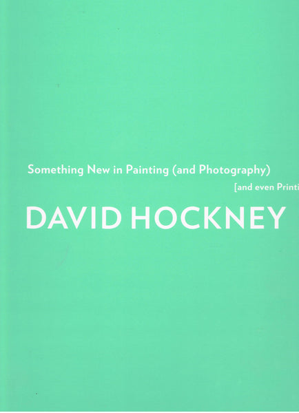 Front Cover image-David Hockney-Something new in Painting
