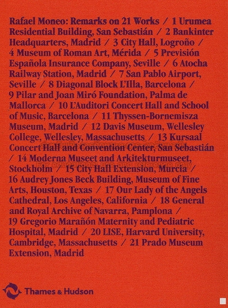 Back cover image of Rafael Moneo Remarks on 21 Works