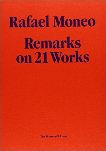 Cover image of Rafael Moneo Remarks on 21 Works