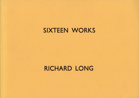 Front cover-Richard Long-Sixteen Works
