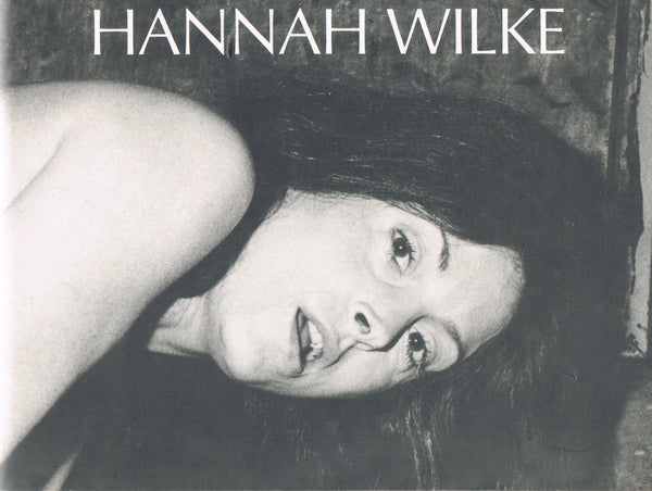 Cover of Hannah Wilke retrospective catalogue at U of Missouri, 1989