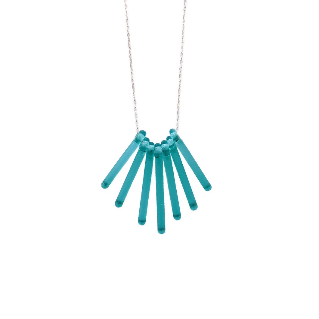 Teal Forsforo Necklace by Krista Bermeo