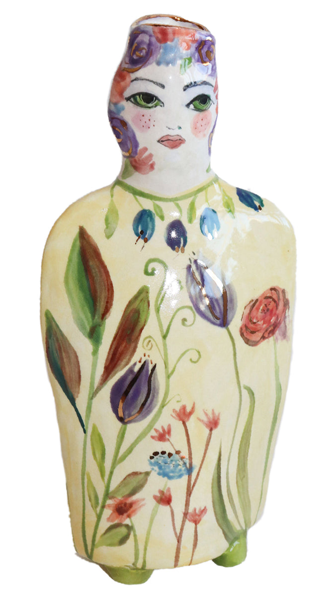 Woman Figure Vase by Maria Counts