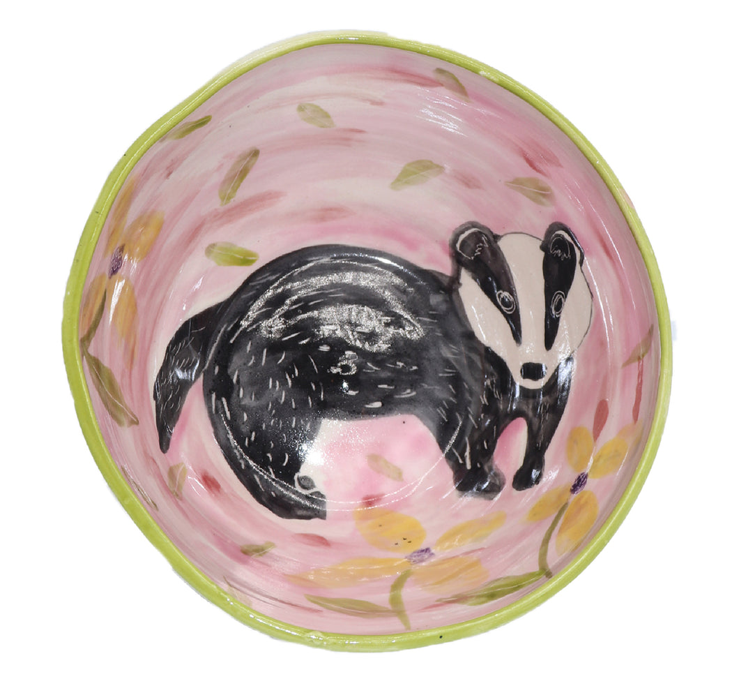 Badger Bowl by Maria Counts