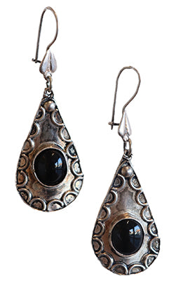 Sterling Silver with Stone Earring by Janet Seward