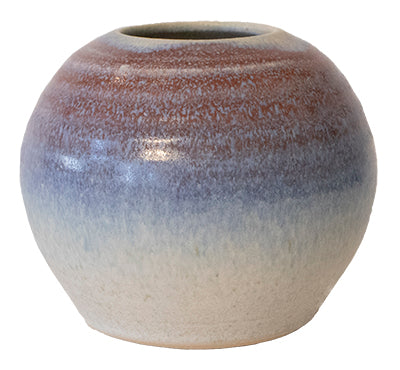 Blue & Rust Vase by Kenny Smith